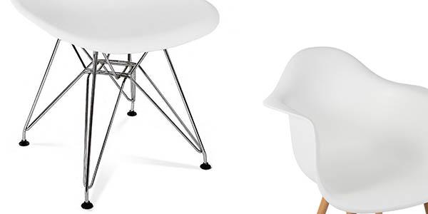 Pack sillas r plica tower de eames al mejor precio - Silla eames amazon ...
