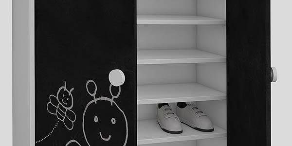 practico mueble de almacenaje con baldas regulables
