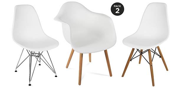 Pack sillas r plica tower de eames al mejor precio for Sillas eames baratas