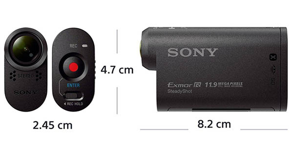 Medidas cámara Action Cam Sony HDR-AS30V