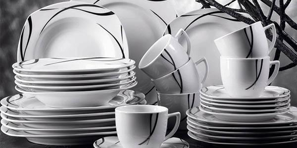 Oferta vajilla de porcelana domestic oslo de 6 servicios - Vajilla cuadrada carrefour ...