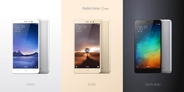 Colores XIAOMI Redmi Note 3 Pro 16GB 4G