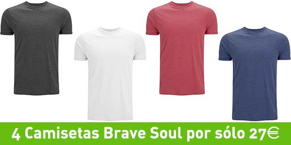 Camisetas de algodón Brave Soul