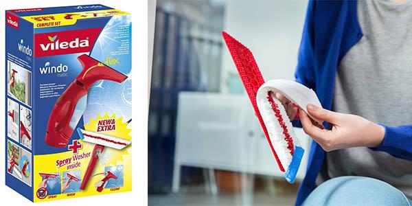 aspirador y espatula con mopa vileda para limpieza mamparas baño espejos y vitroceramica-windomatic