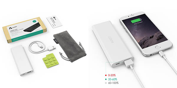 Batería portátil USB Aukey