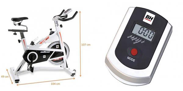 Medidas y pantalla LCD bicicleta indoor Tecnovita