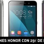 Promoción Smartphones Honor con 25€ de descuento