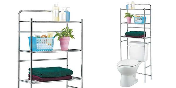 Funcional estanter a para cuartos de ba o peque os por for Estanteria bano amazon