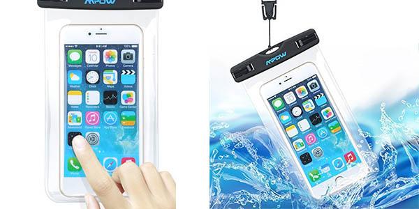 Funda táctil sumergible para smartphone