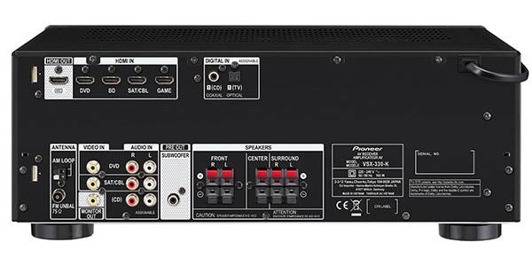 Conexiones receptor AV Pioneer VSX-330