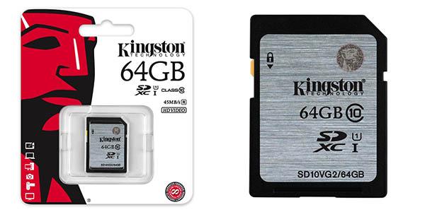 tarjeta de memoria - kingston 64gb