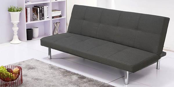 Chollo sof cama clic clac por s lo 99 en gris for Cuanto vale un sofa cama