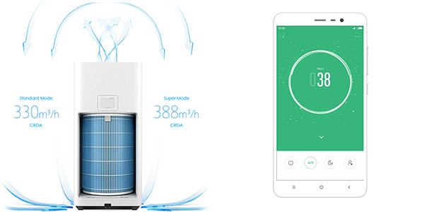 App móvil para Xiaomi Smart Mi Air Purifier