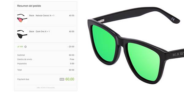 Códigos promocionales 2019 real varios colores Cupón 25% de descuento en gafas de sol Hawkers ¡Aprovecha!