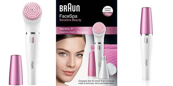 depiladora facial y limpiador de impurezas piel cara braun face