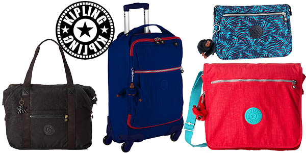 para toda la familia ahorros fantásticos marca popular Bandoleras, maletas y bolsos Kipling rebajados hasta un 60 ...