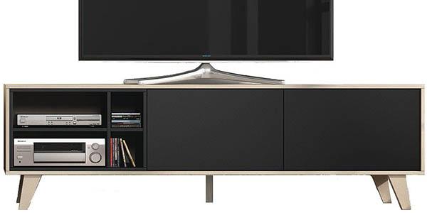 mueble de melanina nogal y gris gran relacion calidad precio