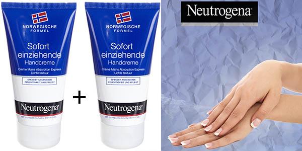 neutrogena crema de manos 2 tubos de 75 ml oferta