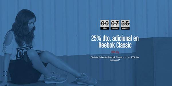 reebok promocion classics descuento 25% 3 mayo 2016