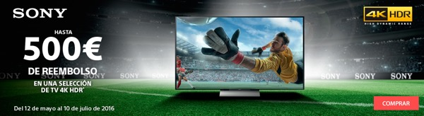 Reembolso TV Sony 4K