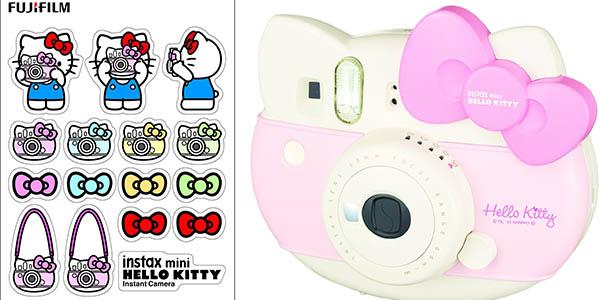 caja fujifilm camara instantanea de fotos hello kitty con papel pegatinas y lente zoom