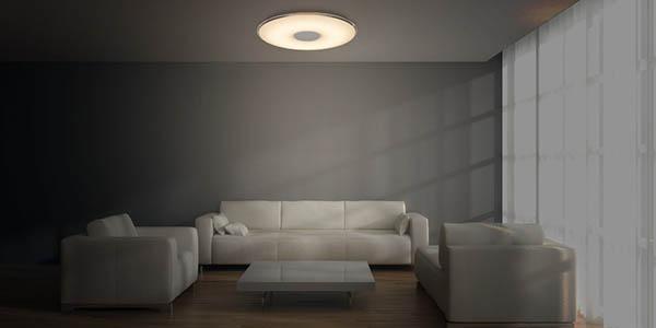 lampara plafon led regular intensidad brillo color luz mando a distancia