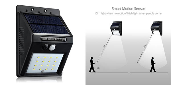 Chollo flash pack con 2 luces led solares victsing para for Luces de navidad solares para exterior