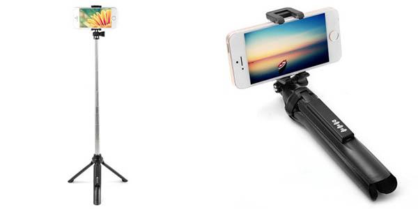 Palo selfie con trípode y mando bluetooth barato