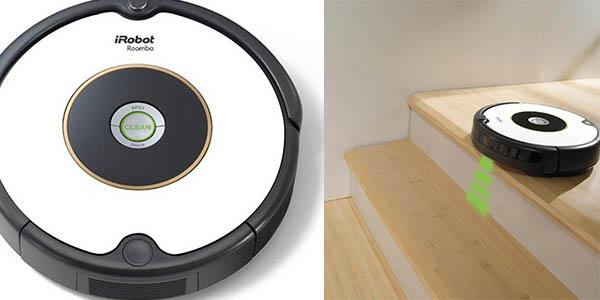 roomba 605 con detector escaleras y aspiracion alfombras
