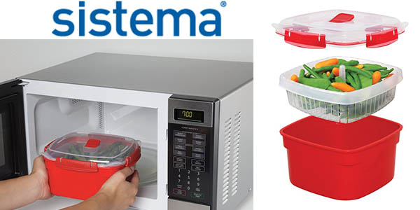 Oferta olla sistema para cocinar al vapor en el microondas for Aparato para cocinar al vapor