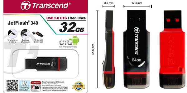 Características Transcend JetFlash 340 Micro USB OTG de 32 GB