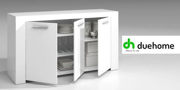 Chollo aparador moderno para comedor o salón en blanco brillo por ...
