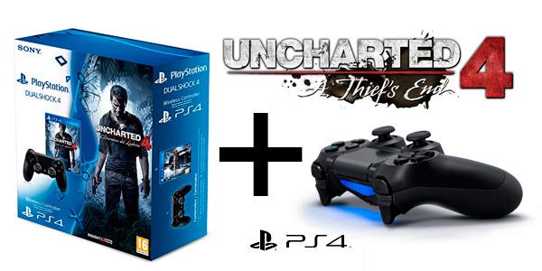 Uncharted 4 + dualshock 4 oferta Amazon