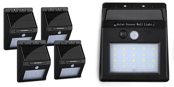 Pack con 4 luces LED solares VicTsing para exterior