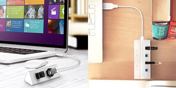 Hub 4 Puertos USB 3.0 AUKEY barato
