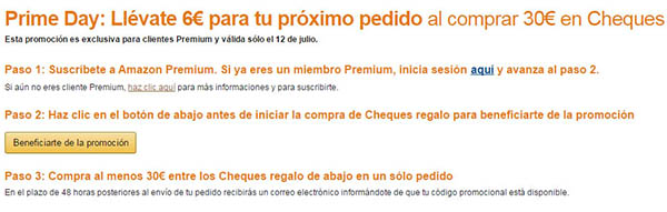 cheque regalo amazon reembolso