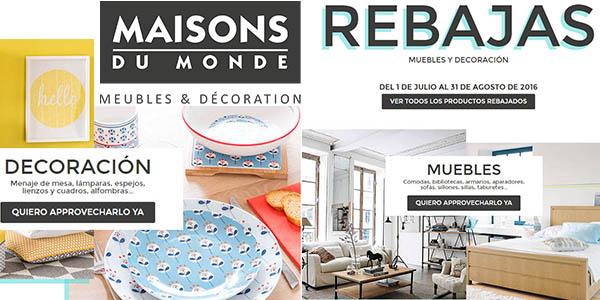 Muebles a precios locos en las rebajas de Maisons du Monde ¡A por ellos!