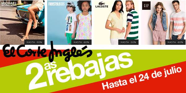 dad4fd6c2e6b Segundas Rebajas en El Corte Inglés con -20% en Moda de grandes marcas