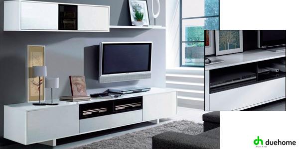 Chollo mueble completo para comedor o sal n en blanco for Mueble tv economico