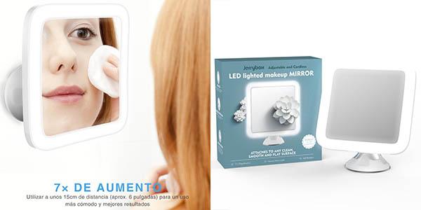 Espejo cosm tico de aumento con luz led jerrybox por s lo for Espejo aumento con luz