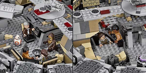 Chollo halc n milenario de lego star wars por s lo 109 95 for Interior halcon milenario