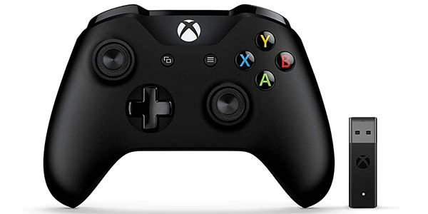 Mando inalámbrico Xbox One + adaptador para PC