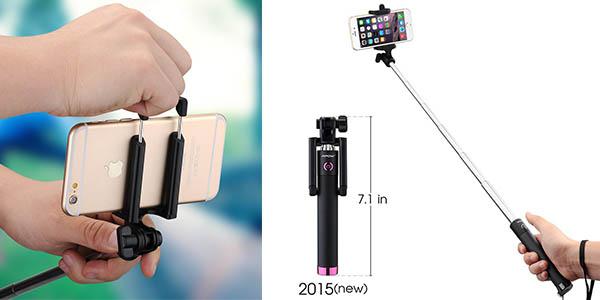 mpow isnap pro x palo selfie con bluetooth disparador integrado barato