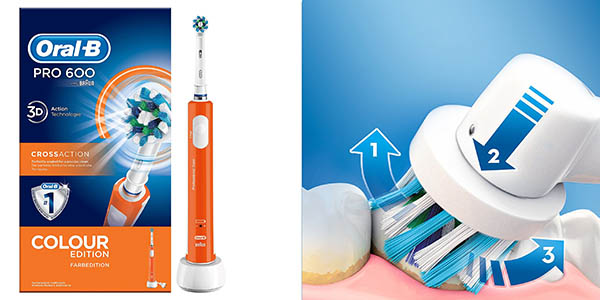 Oral-B Pro 600 CrossAction cepillo de dientes eléctrico barato