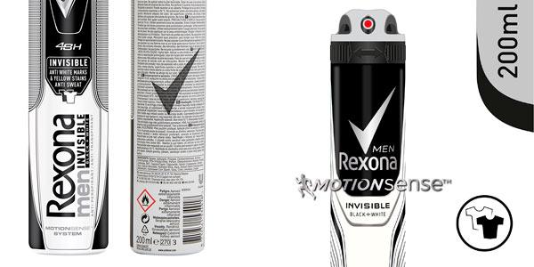 pack 2 rexona desodorante spray invisible black & white oferta
