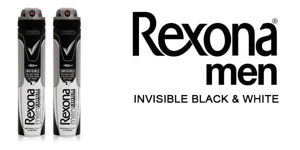 pack 2 rexona desodorante spray invisible black & white