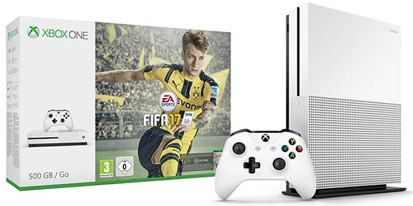 pack xbox one s de 500 gb con fifa 17 al mejor precio. Black Bedroom Furniture Sets. Home Design Ideas