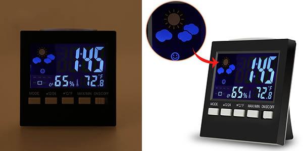 Chollo reloj despertador oobest con estaci n meteorol gica - Estacion meteorologica carrefour ...