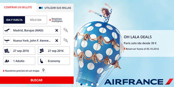 air france ofertas oh lala septiembre 2016