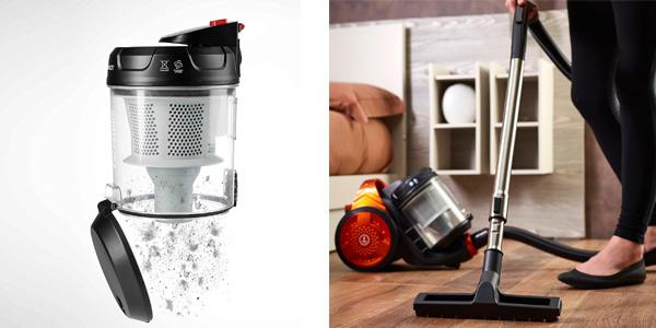Aspirador Polti con depósito extraíble y filtro HEPA